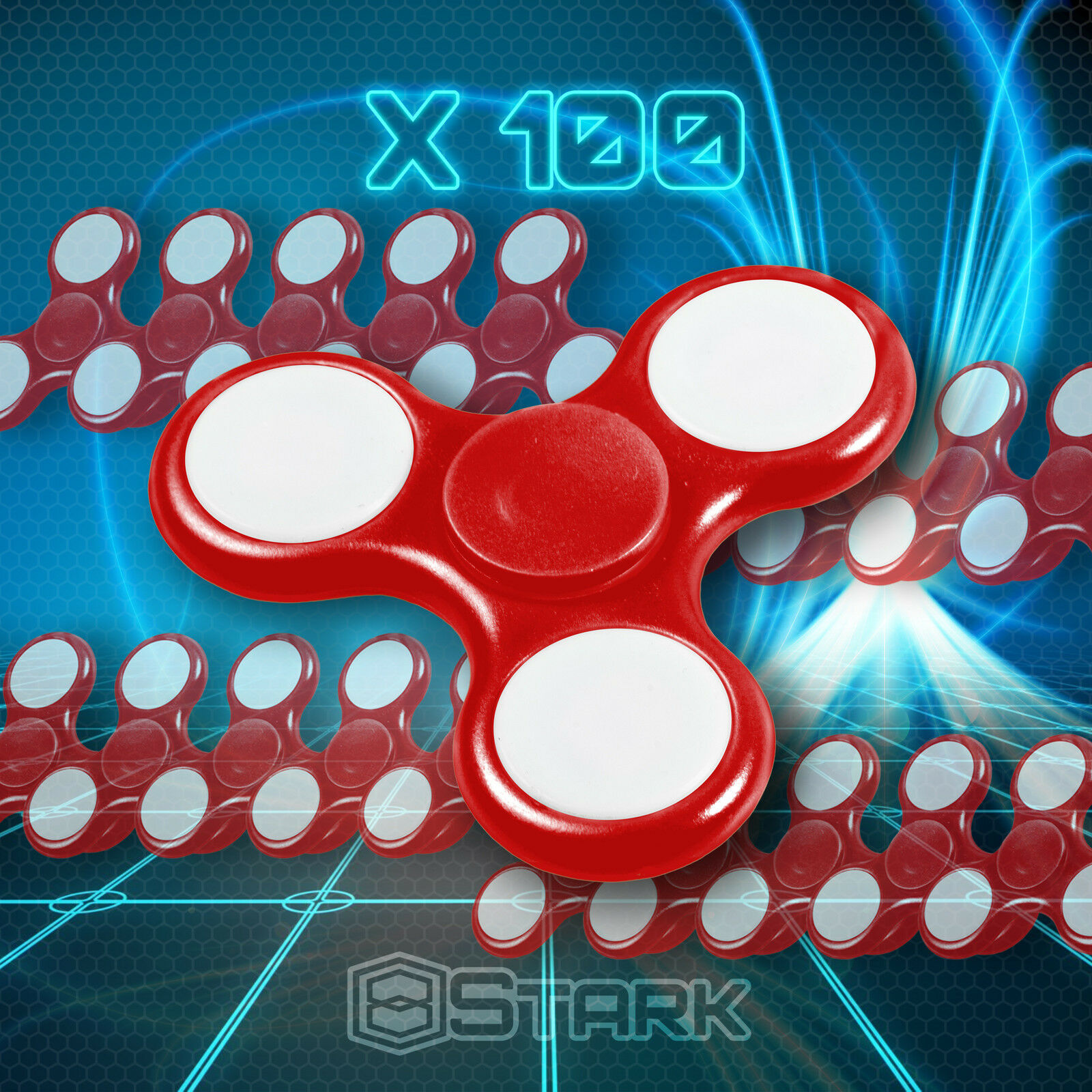 ROT LED Hand Spinner Tri Fidget Focus Desk Toy EDC ADHD Autism KIDS ADULT x100