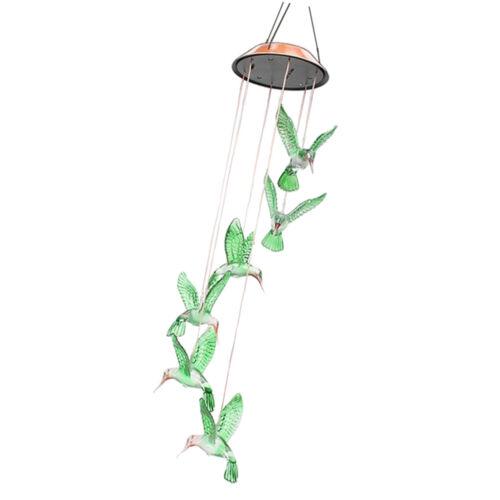 Solar Farbwechsel LED Hummingbird Wind Chime Licht Hausgarten Dekor Geschenk