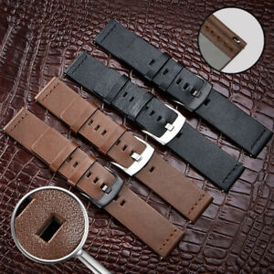 Leather-Watch-Band-20-22mm-Quick-Release-Spring-Pin-Women-Men-Replacement-Strap