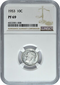 1953-10c-Silver-Proof-Roosevelt-Dime-NGC-PF-69