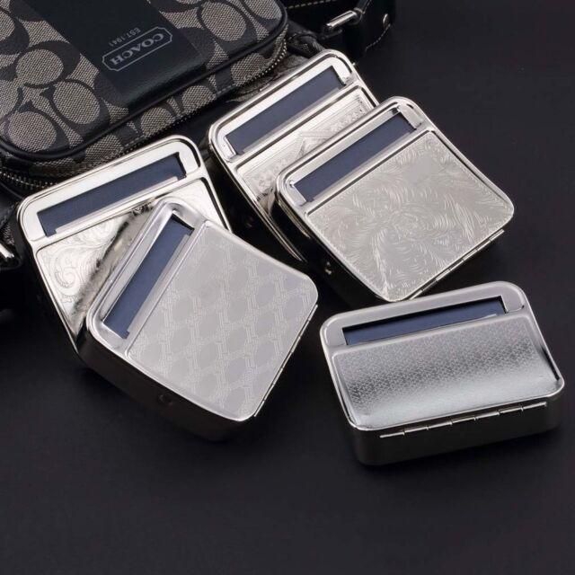 Metal Automatic Cigarette Tobacco Roller Roll Rolling Machine Box Case Tin xW