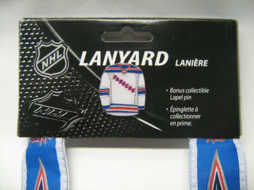 NHL Lanyard with Jersey Pin JF Sports All Teams