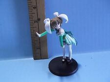 """Pia Carrot Anime 3.5""""in Girl Hunched Over Saying Stop Cute Green Outfit"""