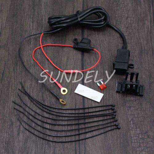 12//24V Waterproof Motorcycle Phone GPS USB Power Supply Socket Charger Fast