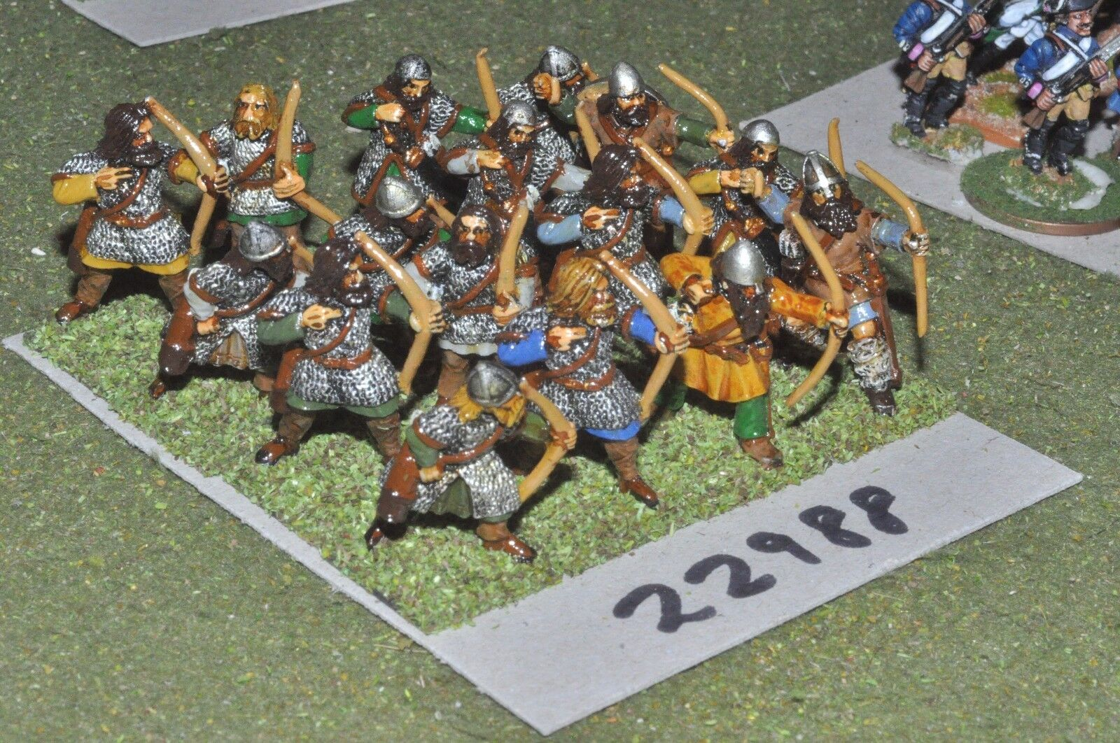 25mm dark ages     viking - archers 16 figures - inf (22988) 161ce4