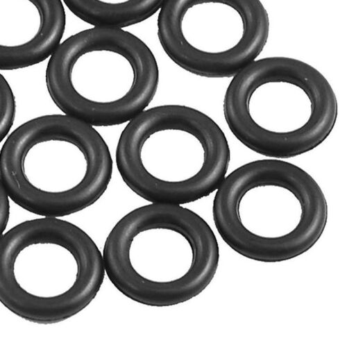 100X Black Rubber O-Rings for Worms Wacky Rig O-Ring Tool Fishing Bite Indicator