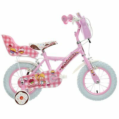 "Apollo Cupcake Kids Girls Bike Bicycle 12"" Inch Wheels Steel Frame in Pink"