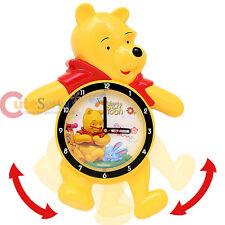 "Disney Winnie the Pooh Friends Wall Clock Animated Swing Legs 18"" Watch"