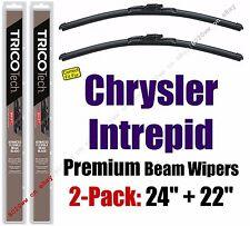 Wipers 2pk Premium Wiper Beam Blades fit 1997-2004 Chrysler Intrepid - 19240/220