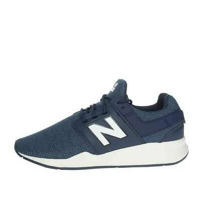 Scarpe sportive bambino ragazzo NEW BALANCE tela blu e bianco GS247AN   eBay