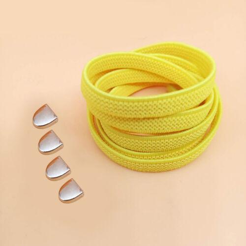 Flat No Tie Shoelaces Elastic Lace Free Tie Shoe Laces Quick Lazy For Sneakers