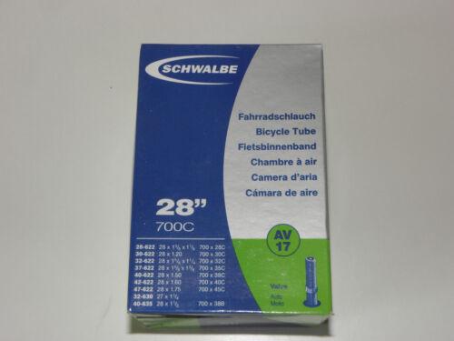 Fahrradschlauch Schwalbe Qualität Schlauch Nr.17 AV 27 X 1.1//4 32-633