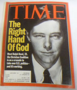 Details about Time Magazine Ralph Reed The Right Hand Of God May 1995 WITH  ML 043014R