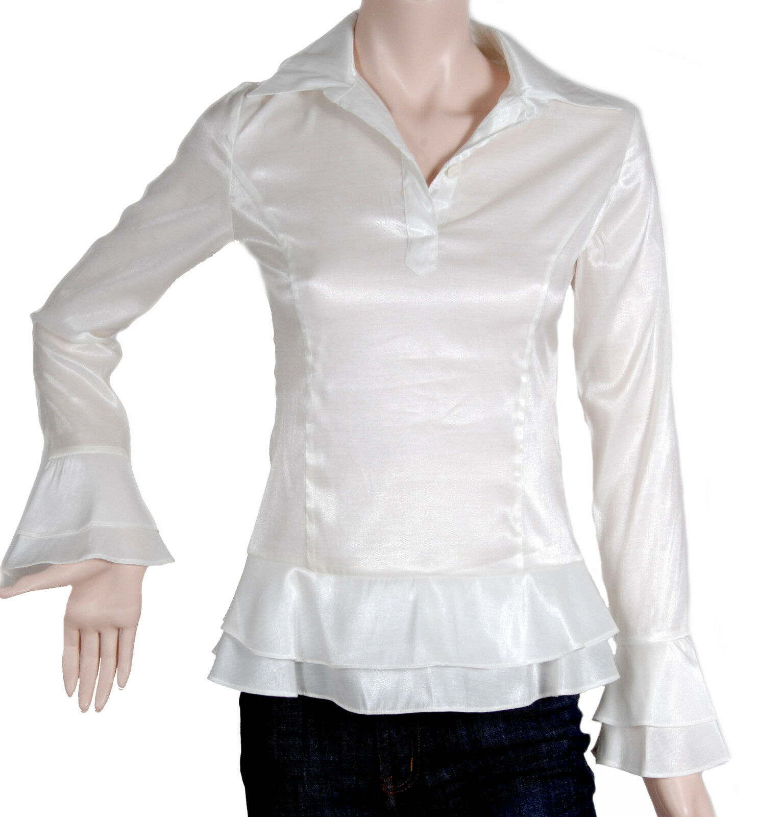 L Größe Weiß Shirt For City Professional  -  French Elegat Style CH001