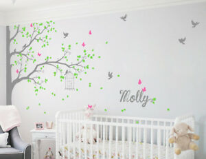 Details About Tree Wall Decals Decor Nursery Mural Children Room Stickers Kr076