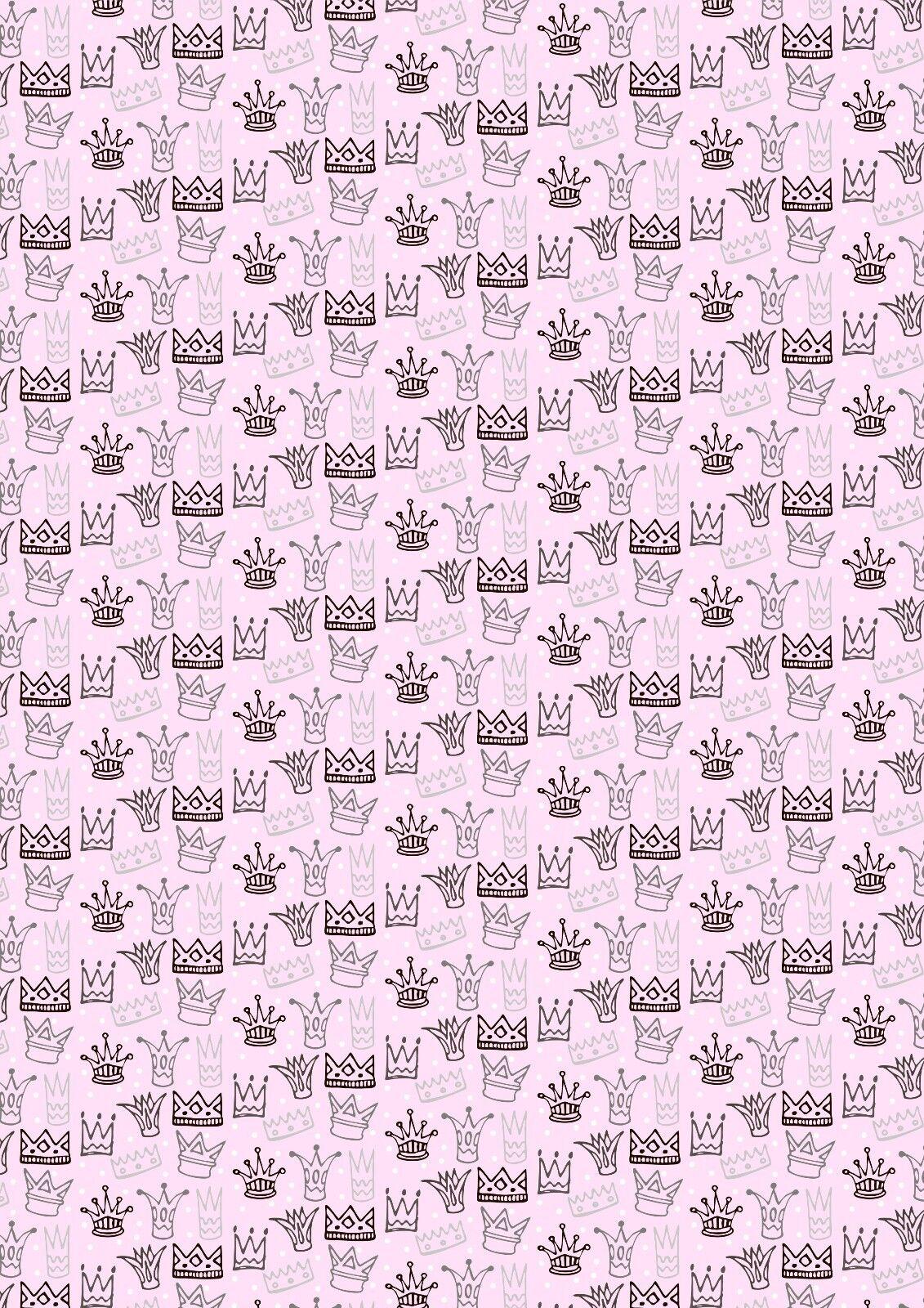 Printed Bow Fabric A4 Canvas Pandas Stars on Pink PA1 Make glitter bows