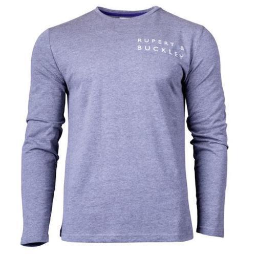 Rupert /& Buckley Long Sleeve Kenn Graphic Tee T Shirt S-XL BNWT RRP £30.94 Grey