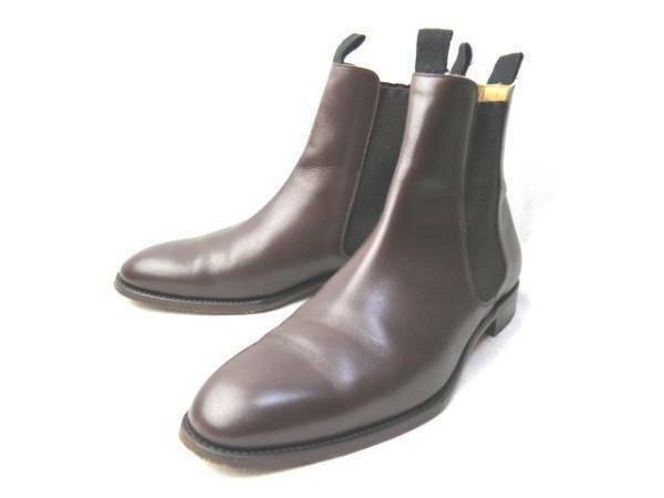 SANYO YAMACHO Side Gore Boots Brown Men's Size 8 Japan shoes