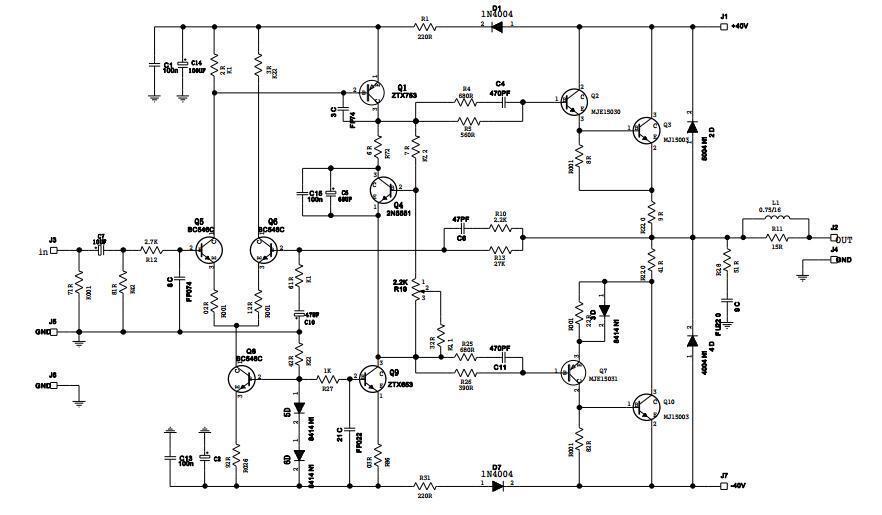 one set ncc200 power amp   regulator bare pcb base on uk