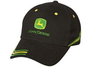 15145d77774 Image is loading Genuine-John-Deere-Black-Champion-Baseball-Cap-Hat-