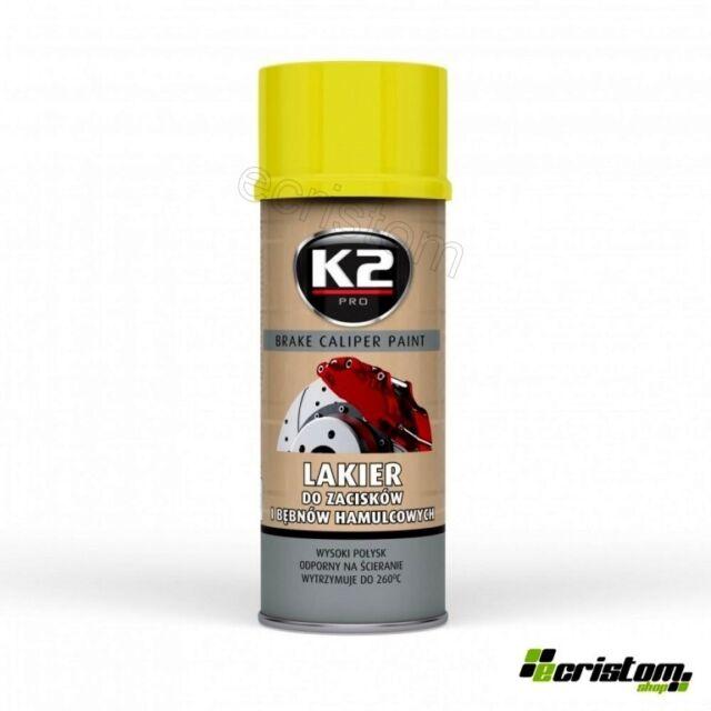 K2 Brake Caliper Yellow High Gloss Heat 260°C Resistant Paint Spray 400ml