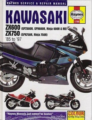 1985 1997 kawasaki zx600 gpz600r gpx600r zx750 haynes service repair manual 3069 9781785213069 ebay  kawasaki gpz600r wiring diagram #2