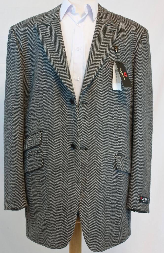 New Raspinni  Herren grau Fashion Blazer Coat Wool Blend,  52