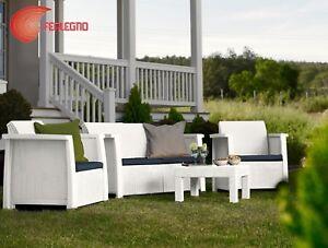 salon r sine blanc 4pz meubles ext rieur jardin mod de. Black Bedroom Furniture Sets. Home Design Ideas