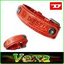 New Style DIESEL Leather Bracelet Orange Bangle Wristband Men's Women Surf BD21