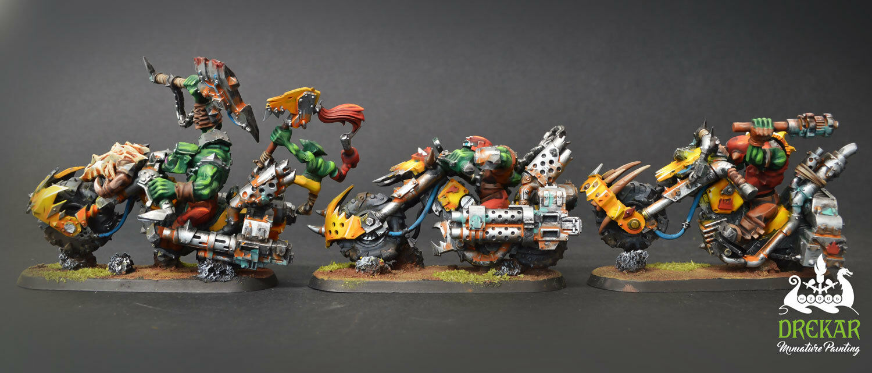Warbiker Mob Orks warhammer 40K  COMMISSION    painting fd7765