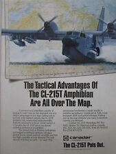 89-90 PUB CANADAIR CL-215T AMPHIBIAN SAR ASW COASTAL PATROL TROOP TRANSPORT AD
