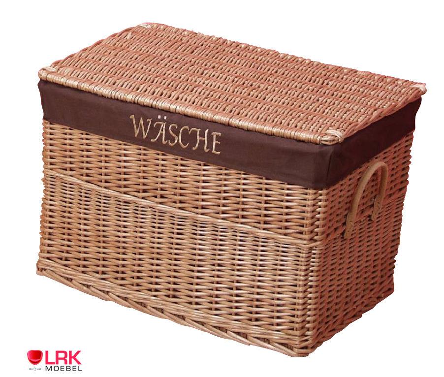 7512 Wäschetruhe Wäschebox Korb Wäschekorb sehr Stabil Handgeflochten Natur Box