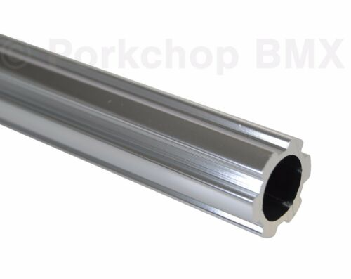 """Old school BMX bicycle 450mm seatpost seat post fluted 22.2mm 7//8/"""" SILVER"""