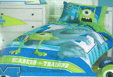 Disney Monsters Inc University Mike Sulley Double Bed Quilt Doona Duvet Cover