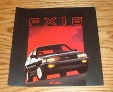 Original 1987 Toyota Corolla FX16 Deluxe Sales Brochure 87