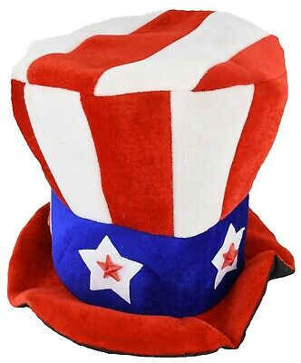 Uncle Sam Flashing Patriotic Hat with LED Lights for 4th of July Party  Favors   eBay