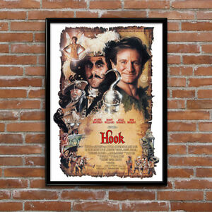 Hook Peter Pan Robin Williams Movie High Quality Poster ...