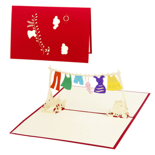 3D Up Greeting Card Handmade Birthday Valentine//Wedding//ChristmasInvitation