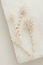 New Anthropologie Constellation Bobby pin Set Hair Clip bobby pins 4 pieces
