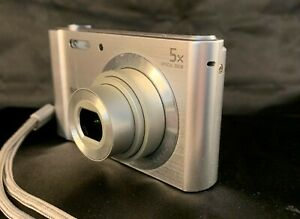 Sony-DSC-W800-Cyber-shot-Digital-Camera-silver-with-accessories-gently-used