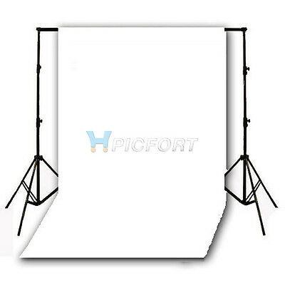 Seamless Flocked Fabric Cloth Photography Backdrop White 1.5 x 3m 5 x10ft