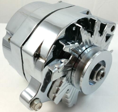 Chrome SB Ford  1G Style 110 amp 1 Wire Alternator Mustang 289 302 351 V8