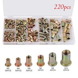 220X-M3-M10-Rivnuts-Blind-Set-Nutserts-Threaded-Rivet-Nuts-Carbon-Steel-UK