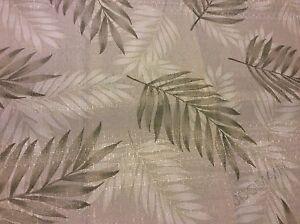 Palm Leaves Leaf  Fabric Shower Curtain Beautiful Shades Of Green NIP