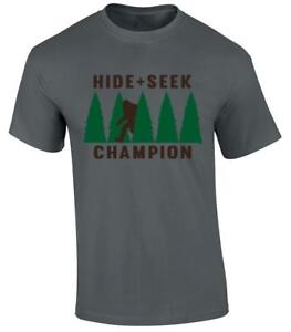 f009edf8 Image is loading Funny-Hide-Seek-Champion-Bigfoot-Sasquatch-T-shirt-