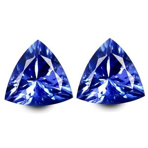 HKD-CERTIFIED-TANZANITE-1-42-Ct-Blau-Violett-Tansanit-Paerchen-Augenrein