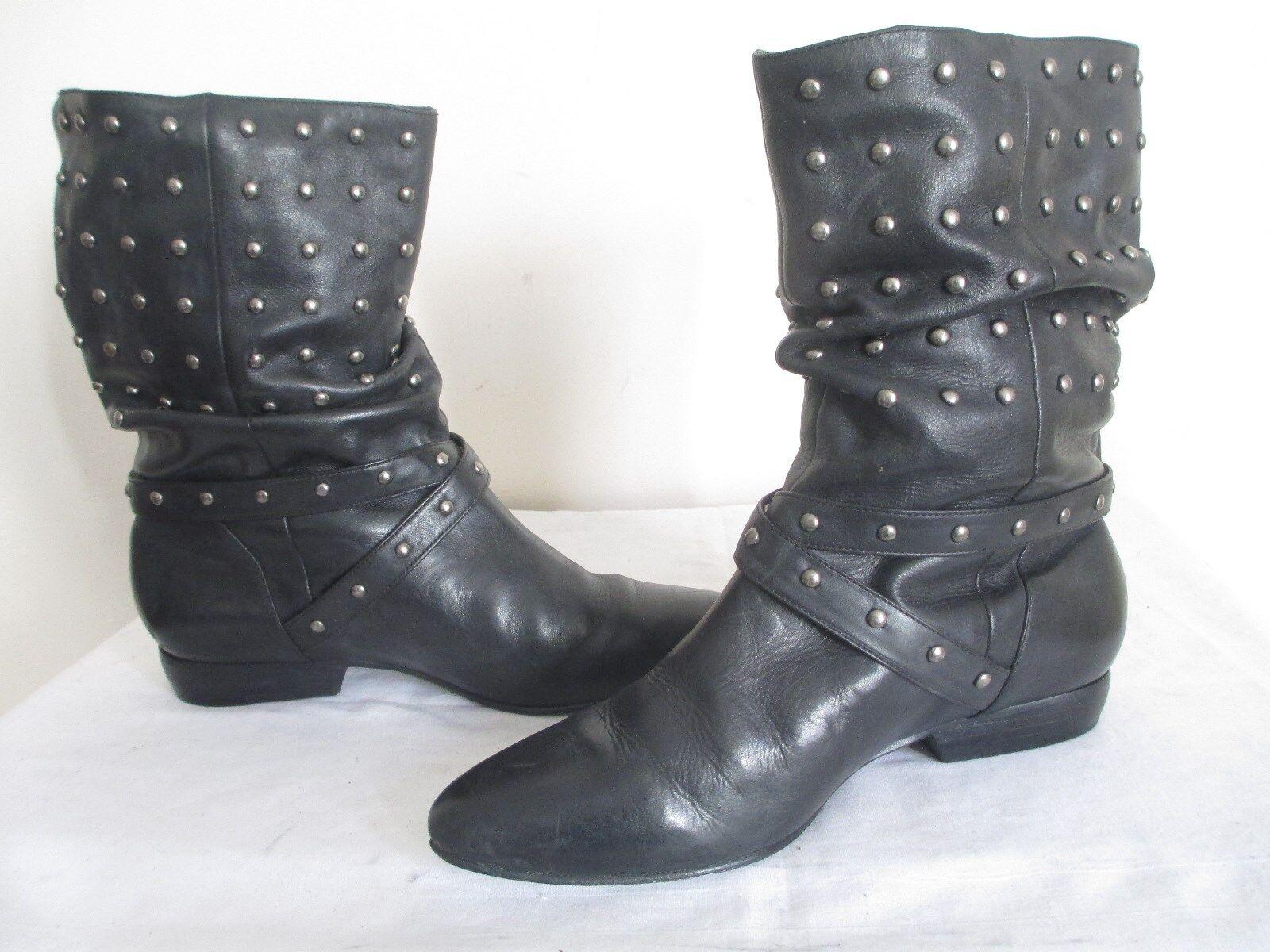 Pour La VICTOIRE Malena Malena Malena femmes Fashion Studded Leather Rider Scrunch Calf démarrage 7 f7f050