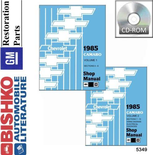 1985 Chevrolet Camaro Shop Service Repair Manual CD Engine Drivetrain Wiring OEM