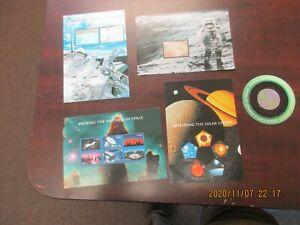 2000 Space Souvenir Sheets set of 5, Scott #3409-3413, Mint NH