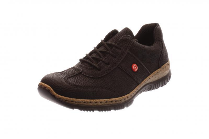 Rieker señora semi zapato con cordones   cortos cortos cortos negro fumo (negro) n3220-01  ahorra hasta un 80%